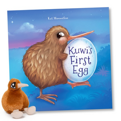 Kuwi the Kiwi Book + Small Kiwi