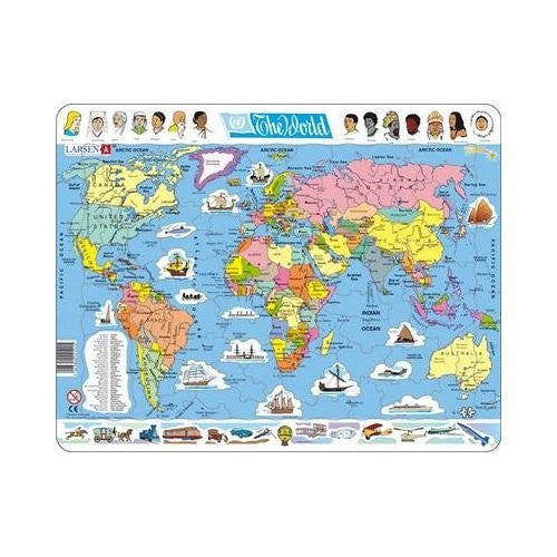 the world map puzzle 107 pieces