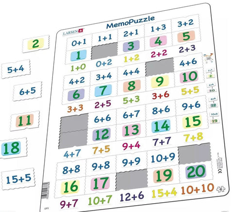 Maths Memo Puzzle - Numbers