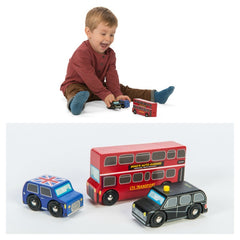 kidz-stuff-online - Le Toy Van - Little London Wooden Vehicles - 3pk