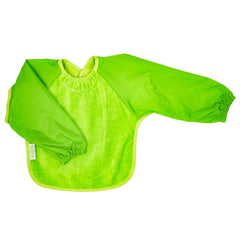 Silly Billyz Towel Bib Long Sleeve Lime