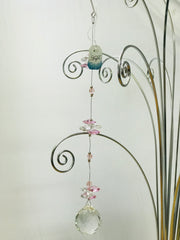 Long pink crystal Suncatcher