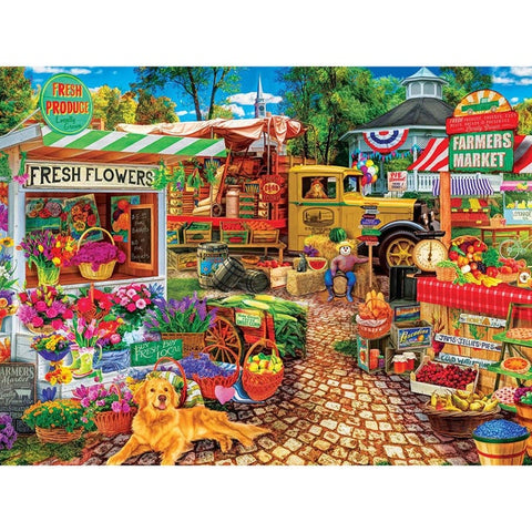 The Love of Flowers Farmers Market Puzzle 1000pc