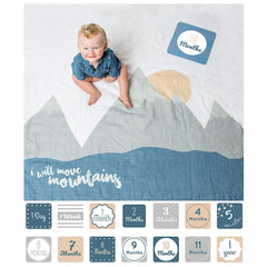 Baby's First Year Blanket and Cards Set -  I Will Move Mountains