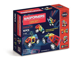 kidz-stuff-online - Magformers Vehicle Line 16 piece set