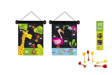 Magnetic dart game - Zoo Animals