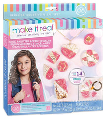 Make It Real - Gold & Glitter Accent Jewellery