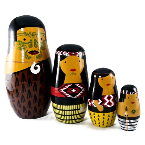 Nesting dolls - New Zealand Maori Family