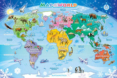 Map of the World floor puzzle by cobble hill