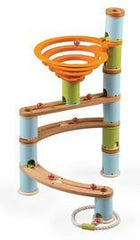 kidz-stuff-online - Wooden Marble Run Bamboo Builder 78 pieces