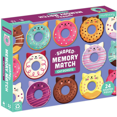 Shaped Memory Match Cat Donuts
