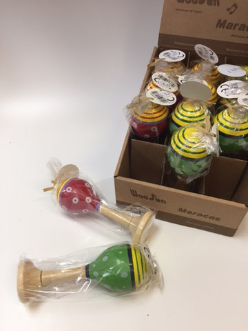 Small Wooden Maracas Individually wraped