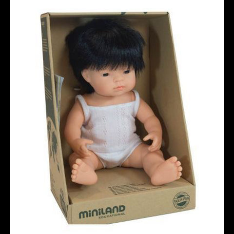 Miniland Baby Doll Asian Boy 38cm