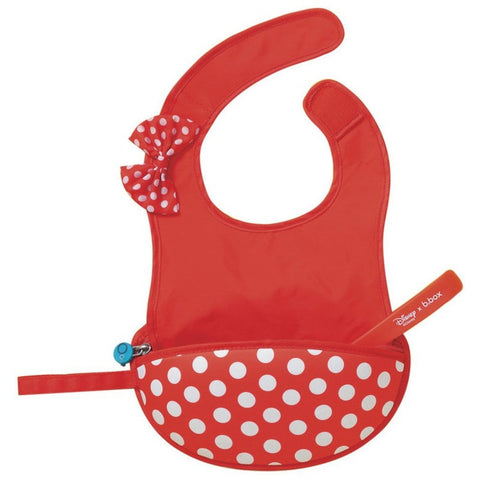Travel Bib Minnie Mouse and Spoon