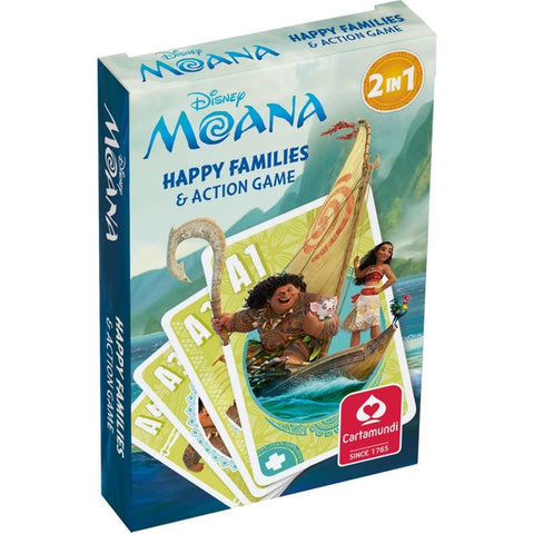 Moana Happy Family & Action Card Game