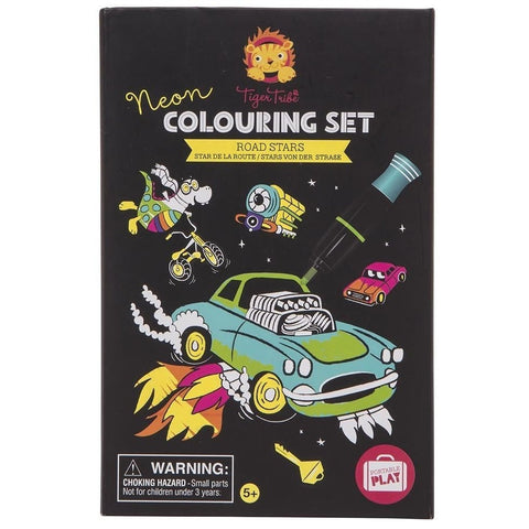 Colouring Set Neon Road Stars
