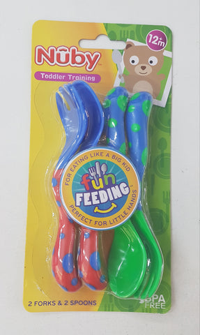 Nuby toddler Training Cutlery Set