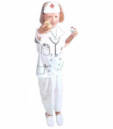 Childs Nurse Vest Costume