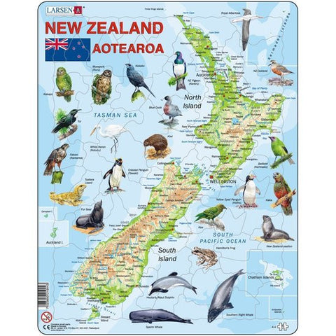 New Zealand Map (71pc Puzzle)