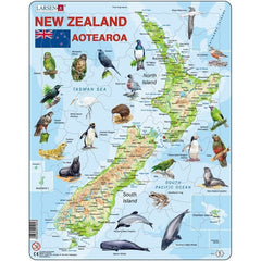 Map of New Zealand (71pc Puzzle)
