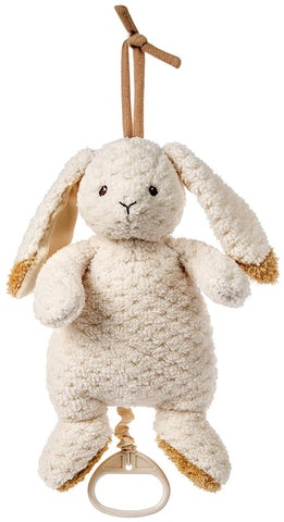 Oatmeal Bunny Pull Musical - cot toy