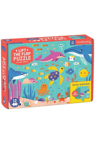 Ocean Party Lift-the-Flap Puzzle  Mudpuppy
