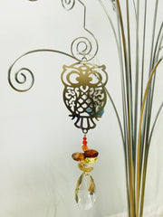 Owl crystal Suncatcher