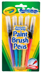 5 Washable Paint Brush Pens - Crayola