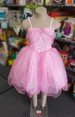 kidz-stuff-online - Pink Glitter Dress - xtra small