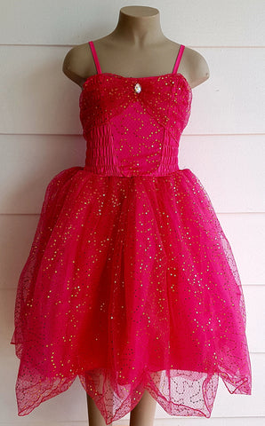 Sparkle Glitter Dress HOT PINK