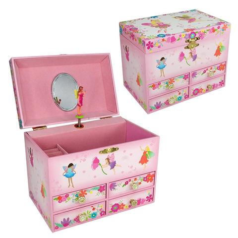 Musical Jewellery box Fairy - Pink Poppy