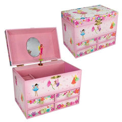 kidz-stuff-online - Musical Jewellery box Fairy - Pink Poppy