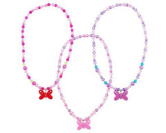 kidz-stuff-online - Pink Poppy Butterfly Necklace - Hot Pink