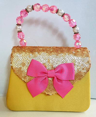 Pink Poppy Forever Sparkle Handbag - Yellow