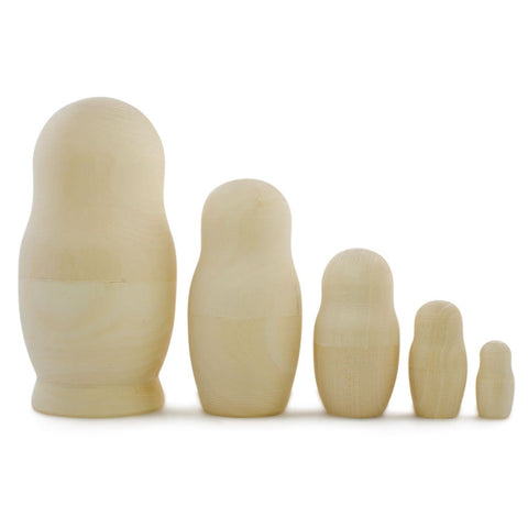 Plain Wooden Nesting dolls