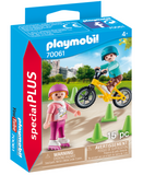 Playmobil - Children with Skates and Bike 70061