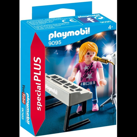 Playmobil 9095 Singer with Keyboard and Microphone