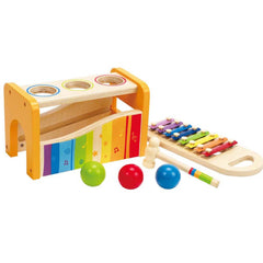 Pound & Tap Bench with Slide Out Xylophone - Hape