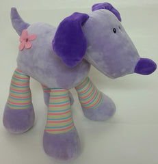 Purple Dog Plush