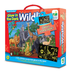 Glow in the dark wildlife puzzle