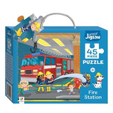 Fire Station 45 Piece Puzzle