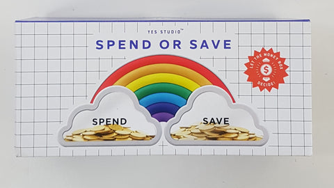 Spend or Save Rainbow Money Box