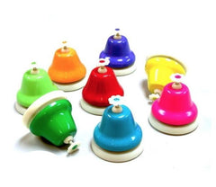 Rainbow Music Small Desk Bells (8pk)