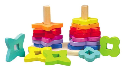 Double Rainbow Wooden Stacker Hape