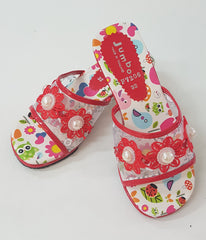 Dress Up Shoes - F7206 Red Flower Shoes Size 32