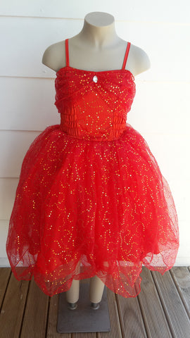Red Sparkle Dress small