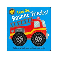 Lets Spin Rescue Trucks Interactive Book