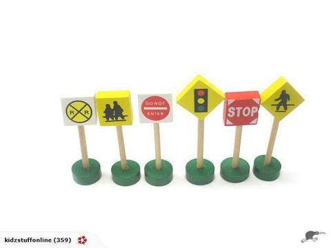 Road Signs wooden