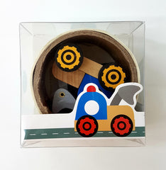 Road Tape with Wooden Vehicle