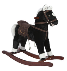 rocking horse black with sounds